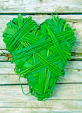 Heart-shaped blades of green grass Royalty Free Stock Photos