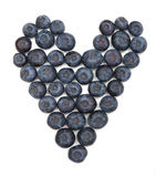 Heart Shaped blueberries stock image