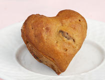 Heart Shaped Blueberry Muffin Stock Photo