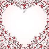 Heart-shaped Blumenfeld, vektorabbildung Lizenzfreie Stockfotos
