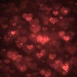 Heart-shaped bokeh background Stock Photos