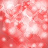 Heart shaped bokeh background Stock Images