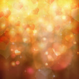 Heart shaped bokeh background Stock Image