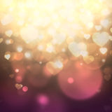 Heart shaped bokeh background Stock Photo