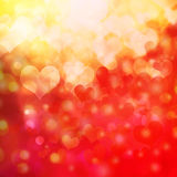 Heart shaped bokeh background Royalty Free Stock Images