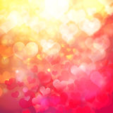Heart shaped bokeh background Royalty Free Stock Photos
