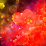 Heart shaped bokeh background Stock Photos
