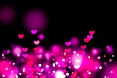Heart shaped bokeh Royalty Free Stock Photos