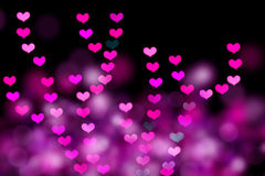 Heart shaped bokeh Royalty Free Stock Images