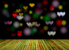 Heart shaped bokeh Stock Photography