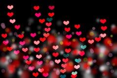 Heart shaped bokeh Stock Photography