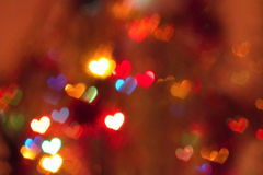 Heart shaped bokeh Stock Images