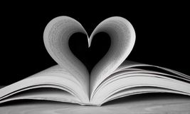 Heart shaped Book. Heart shape with pages of book Stock Image