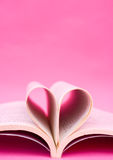 Heart shaped book Stock Image