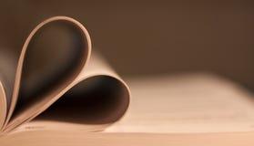 HEART SHAPED BOOK Stock Photos