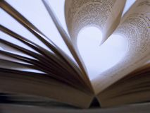 Heart Shaped Book Royalty Free Stock Photos