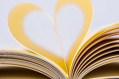 Heart Shaped Book. Stock Photos