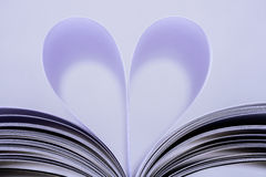 Heart Shaped Book. Royalty Free Stock Images