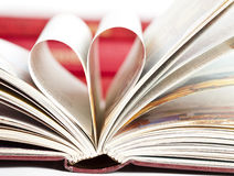 Heart shaped book pages Stock Photography