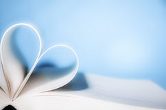 Heart shaped book Stock Photography