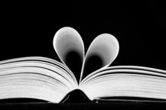 Heart shaped book Stock Images