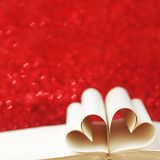 Heart shaped book pages Royalty Free Stock Images