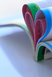 Heart Shaped Book. Stock Photo