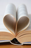 Heart shaped book Royalty Free Stock Images