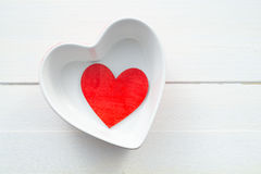 Heart shaped bowl Royalty Free Stock Photography