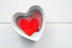 Heart shaped bowl Royalty Free Stock Photo
