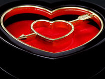 Heart shaped box. Closeup of the heart shaped box,useful for love related purposes Royalty Free Stock Images