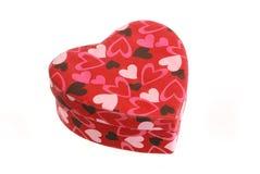 Heart shaped box. (isolated on white Royalty Free Stock Photos