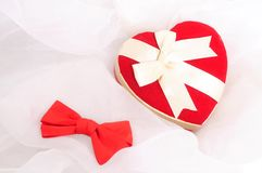 Heart-shaped box Stock Images