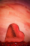 Heart-Shaped Box. A shiny heart-shaped Valentine's box royalty free stock photo