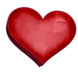 Heart shaped box. For gifts, isolated object stock photography