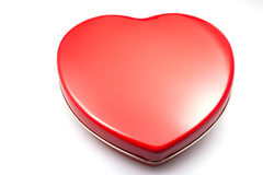 Heart shaped box. On white background Stock Photography