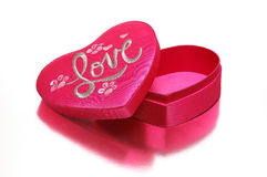 A heart-shaped box. Pink heart-shaped box royalty free stock images