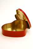 Heart shaped box. Heart shaped red metal box Royalty Free Stock Images