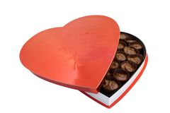 Heart shaped box Royalty Free Stock Images