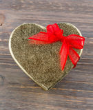 Heart-shaped box as a gift Stock Photos