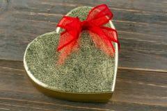 Heart-shaped box as a gift Royalty Free Stock Photos
