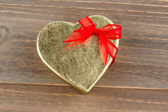 Heart-shaped box as a gift Stock Images