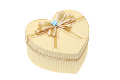 Heart shaped box with bow Royalty Free Stock Photography