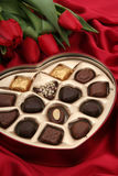 Heart Shaped Box of Candy Stock Photography