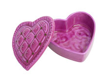 Heart shaped box, isolated on white, clipping path. Stock Images