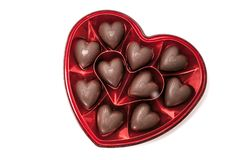 Free Heart Shaped Box Of Chocolate Candy Royalty Free Stock Image - 143572886