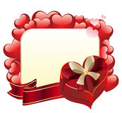 Heart Shaped Box with Ribbon Royalty Free Stock Photo
