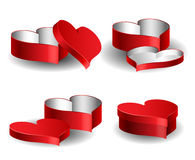 Heart shaped box set for Valentine Royalty Free Stock Images