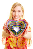 Heart-shaped boxes Stock Photos