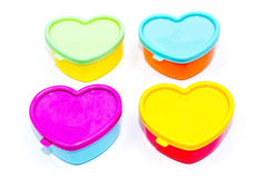 Heart shaped boxes Royalty Free Stock Images